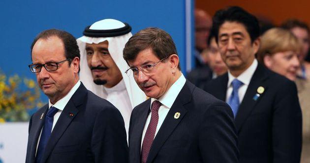 Davutoğlu G-20 zirvesinde sunum yaptı