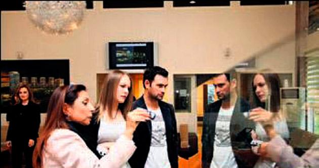 Dizi oyuncuları hafta sonu Akkent'teki daireleri gezdi