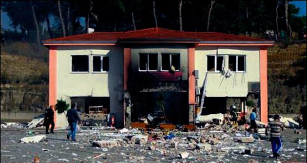 Okul binasında tüp patlaması