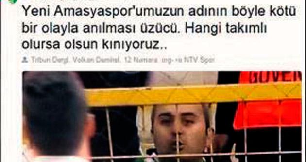 Yeni Amasyaspor anında kınadı