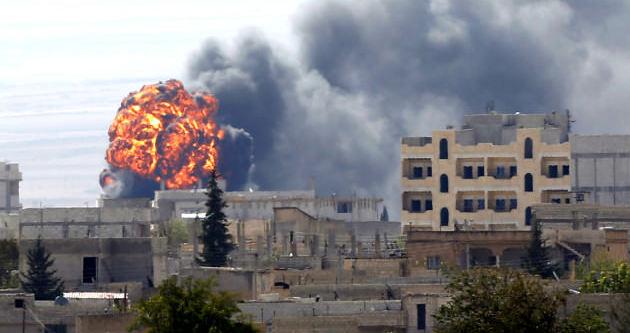 Kobani'de IŞİD - YPG  savaşı sürüyor