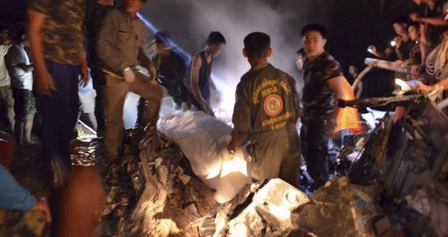 Tayland'da askeri helikopter düştü: 9 ölü