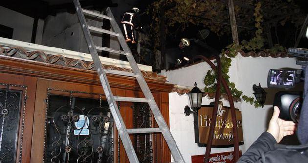 Ankara'da tarihi konak yandı