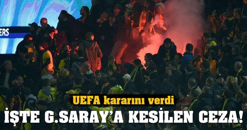 UEFA, GALATASARAY'IN CEZASINI KESTİ
