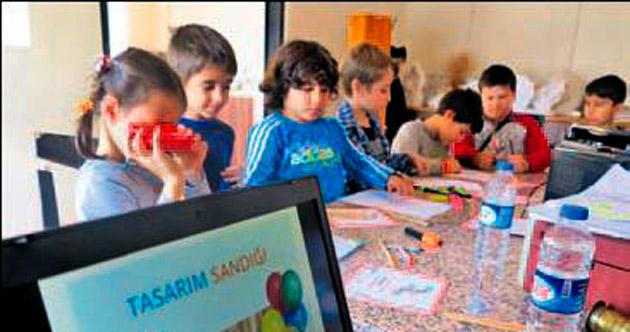 'Tasarım Sandığı' çocuklar için açıldı