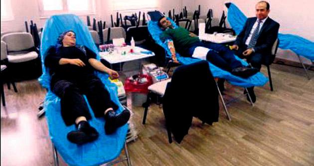 Hayat vermek için kan bağışladılar