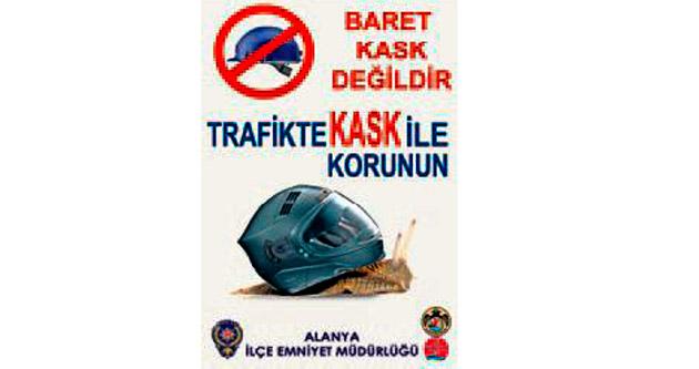 Motosikletliler için kask uyarısı yapıldı