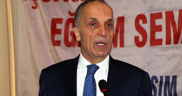 Türk-İş genel başkanı hastaneye kaldırıldı