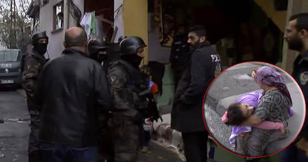 Polisin uygulama yaptığı mahalle karıştı
