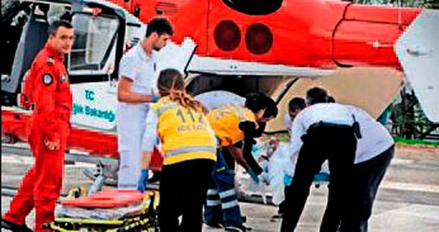 Helikopter bu kez Ferhat için uçtu