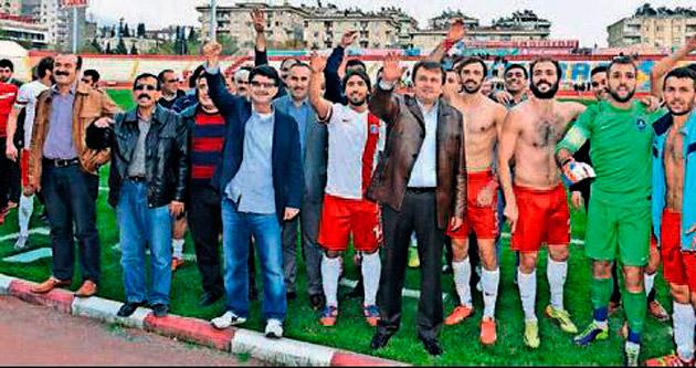 Başkan Erkoç'tan galibiyete kutlama
