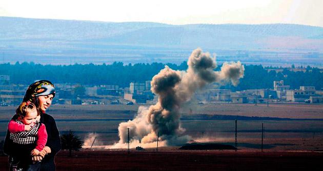 Siviller Kobani'ye dönüyor