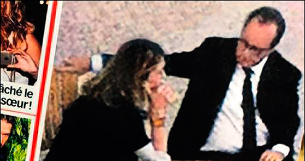 Hollande ile Gayet'nin sarayda ilk fotoğrafı