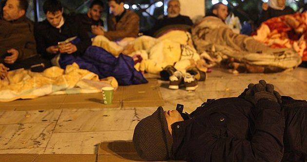 Suriyeli sığınmacılardan Atina protestosu