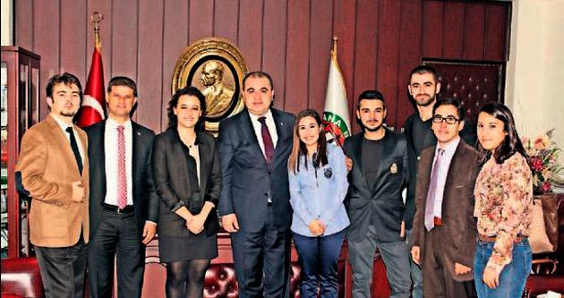 Çağ'ın hukukçu gençleri Baro'yu ziyaret etti