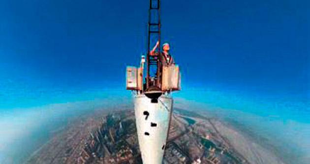 Dünyanın en yüksek binasından selfie...