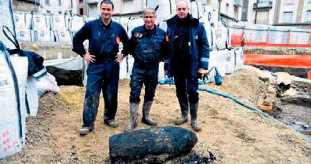 Metro işçileri 70 yıllık bomba buldu