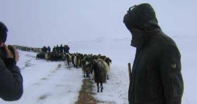 Mahsur kalan çobanlar kurtarıldı