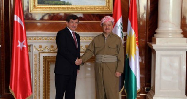 Davutoğlu Barzani'yi Türkiye'ye davet etti