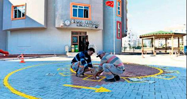 Okul boyaları belediyeden