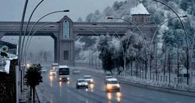 Ankara'da kar dün şehre indi