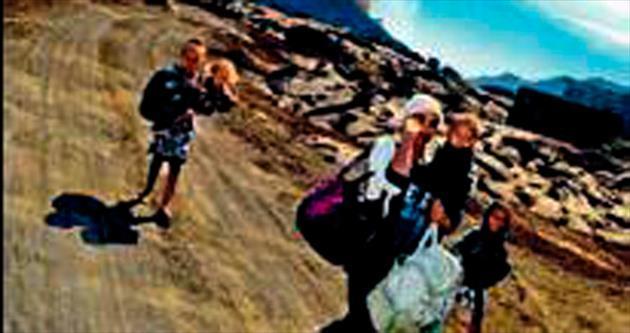 Pico de Fogo volkanı patladı