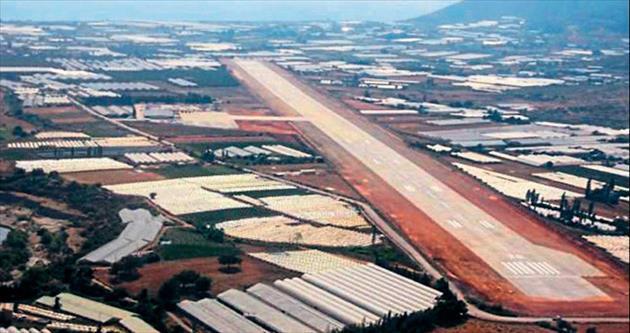 Gazipaşa'ya viyadüklü altı havaalanı