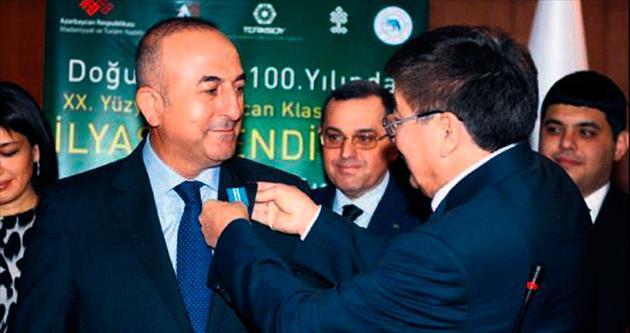 Bakan Mevlüt Çavuşoğlu'na 'Onur Madalyası' ödülü verildi