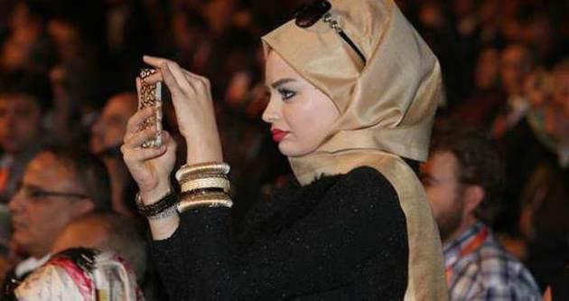 Arap kadın Erdoğan'ı böyle takip etti