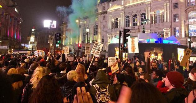 Ferguson eylemleri Londra'ya sıçradı