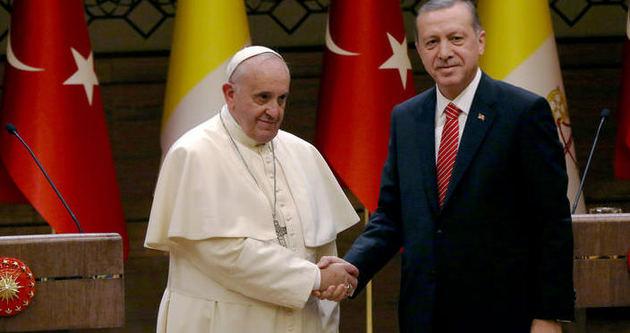 Erdoğan ve Papa'dan ortak açıklama
