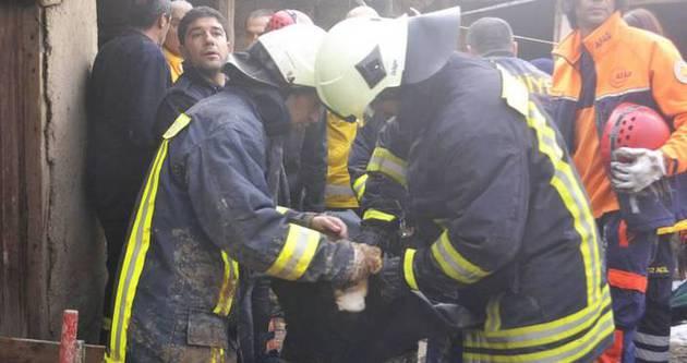 Atış poligonunda yangın: 3 yaralı