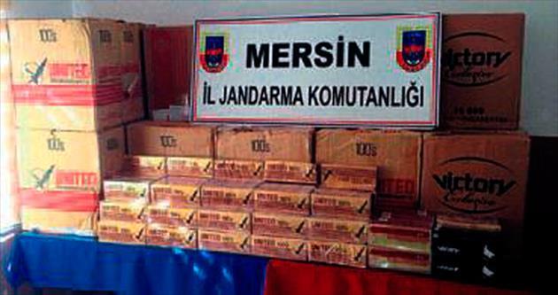 Mersin'de kaçak sigaraya geçit yok