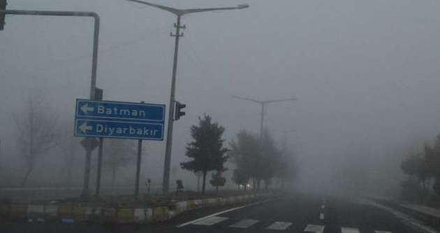 Batman ve Siirt'te yoğun sis