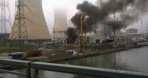 Belçika'da nükleer santral yangını!