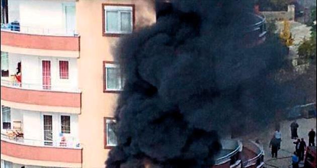 Avsallar'da yangın paniği