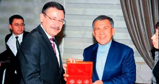 Gökçek, Tataristan Cumhurbaşkanı'nı ağırladı