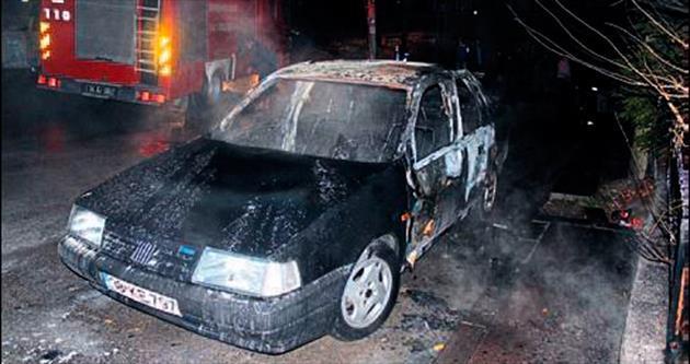 Gölbaşı'nda araç yangını: 3 yaralı