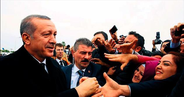 Erdoğan'a sevgi seli