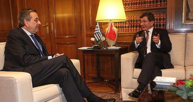 Başbakan Davutoğlu Samaras'la görüştü