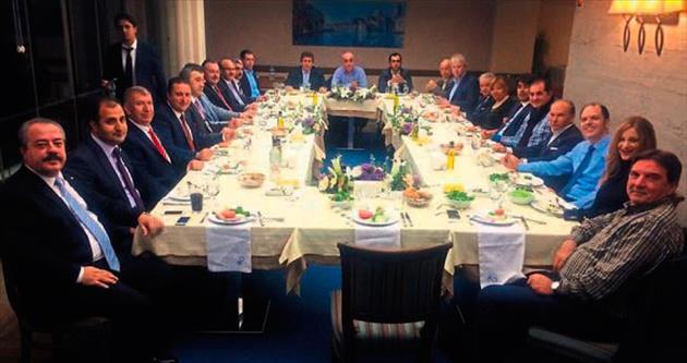 Oda başkanları dost sohbetinde buluştu