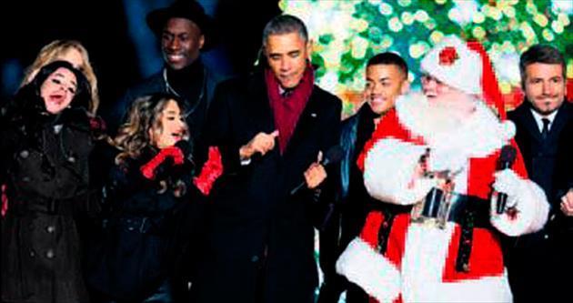 Beyaz Saray'da dans ve öpücük...