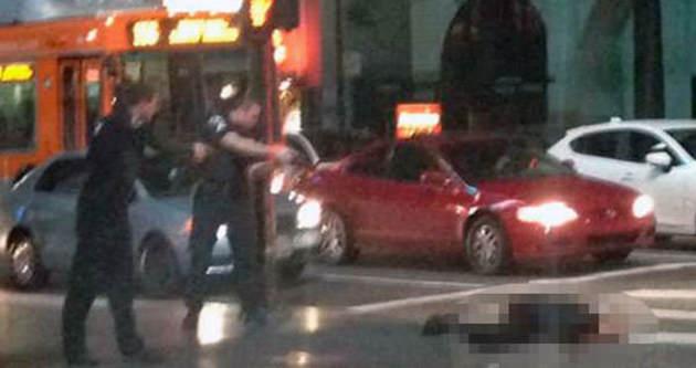 Amerikan polisi sokak ortasında vurdu!