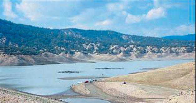 Korkuteli Barajı'nda su hızla yükseliyor