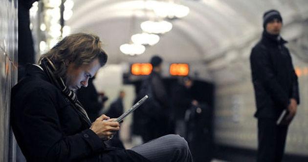 Moskova metrosunda bedava internet