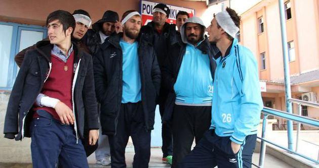 Amatör Lig maçında olay! 7 futbolcu yaralandı