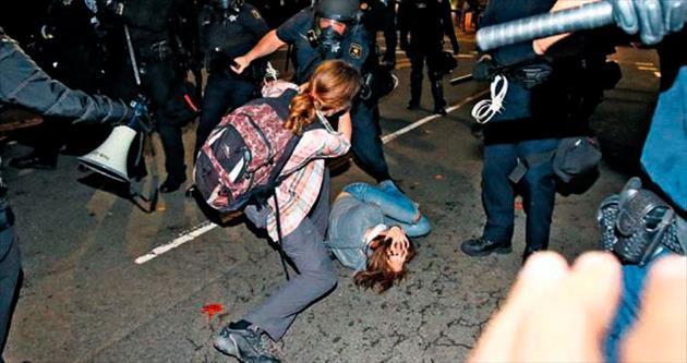 ABD polisi geri adım atmadı