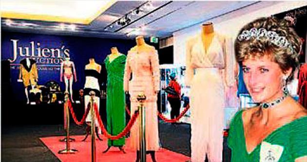 Diana'nın 5 elbisesi 500 bin dolara gitti