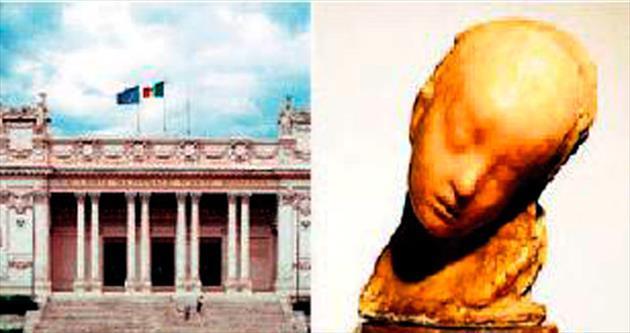 1.4 milyon liralık heykeli montuyla çaldı