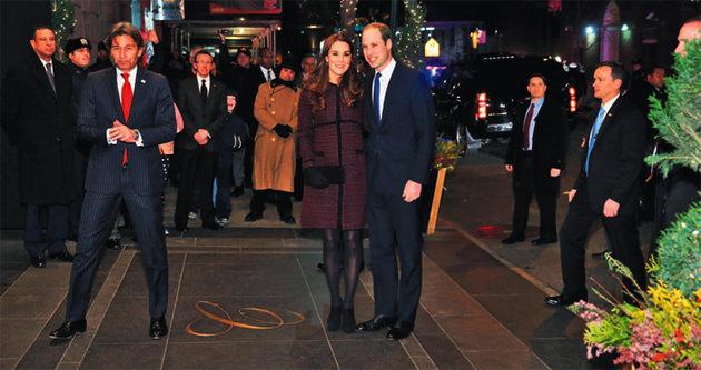 New York'ta İngiliz kraliyet çifti heyecanı